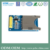 Customized circuit board for sd card reader pcb smt assembly