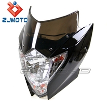 YM-029-BK Black chinese motorcycle parts motorcycle front head light front lights fit for wr wrf yz tw