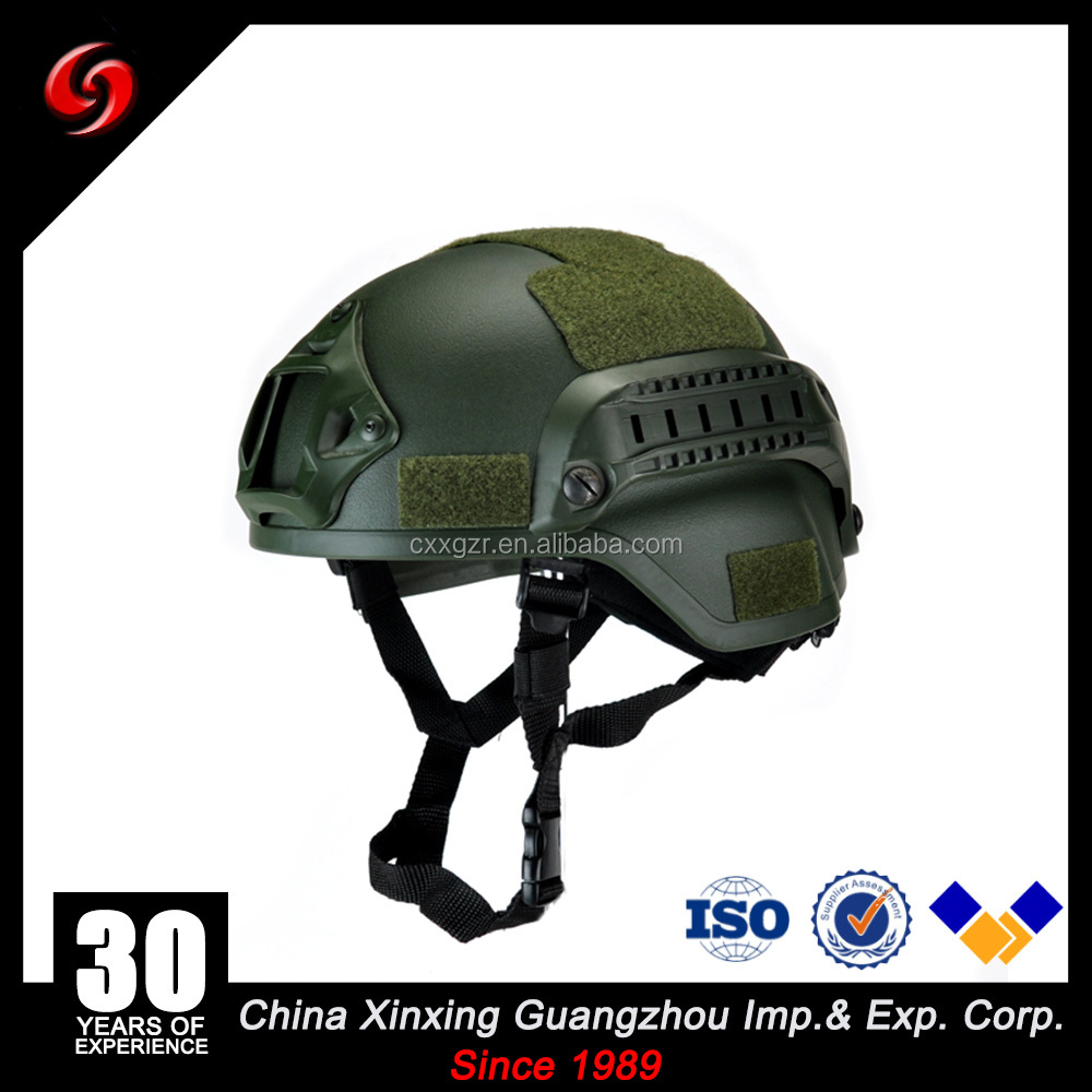 high quality US standart IIIA Mich tactical bulletproof helmet with guide and night vision metal base german army helmet