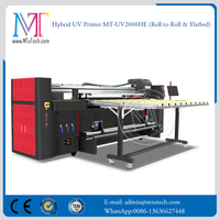 2017 Hybrid UV Printer Roll to Roll and Flatbed UV Printer UV2000HE Hybrid UV Printer