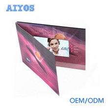 Advertising Display Paper Thin 4.3 inch lcd Screens Video Brochure Card