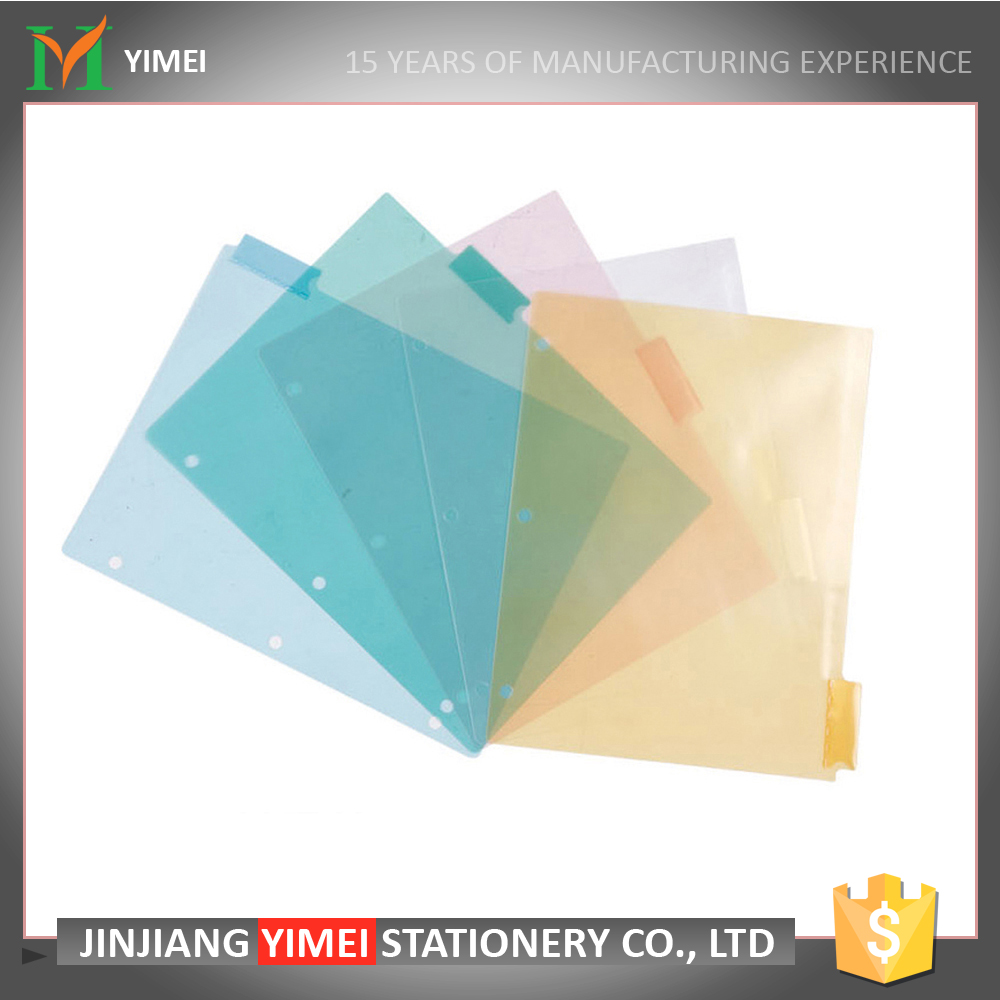 Wholesale customized size multicolor plastic documents index