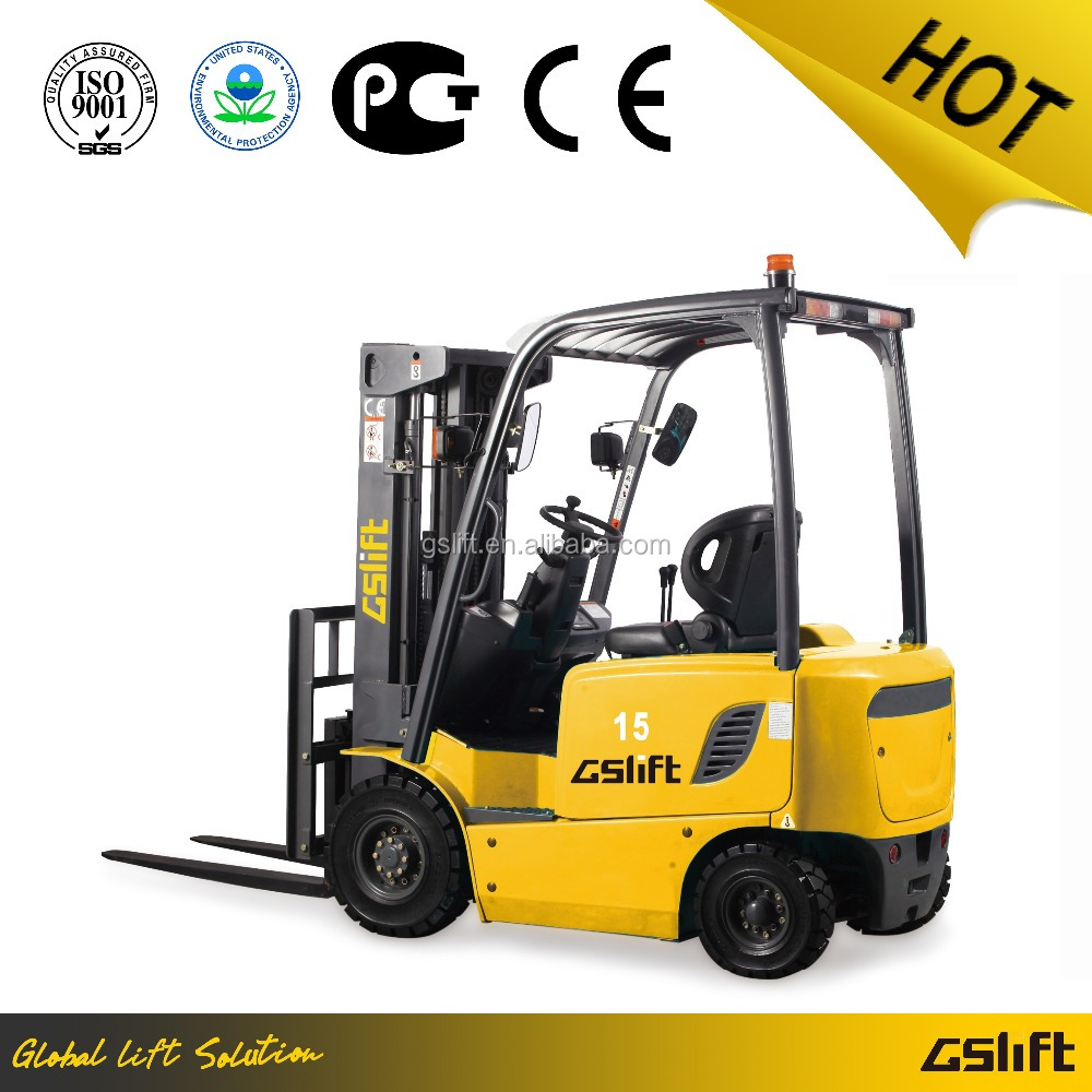 Small 1.5 Ton Electric Battery Operated Forklift