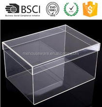 M&E Acrylic Shoe Box Sneaker Display Stand Sliding Storage Case for Collectibles