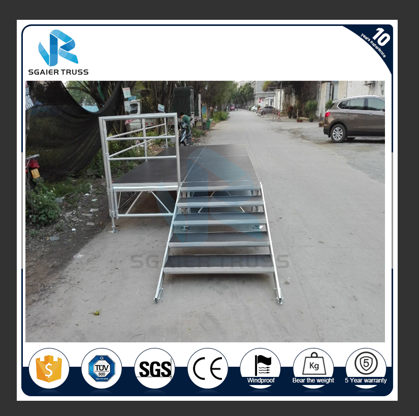 Used aluminium stage deck/ mobile band stage for sale