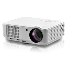 "Full Color 150"" LED Projector 2500 Lumens 1080P 1300:1 Contrast Ratio Projection Machine with HDMI VGA AV USB Remote Controller"
