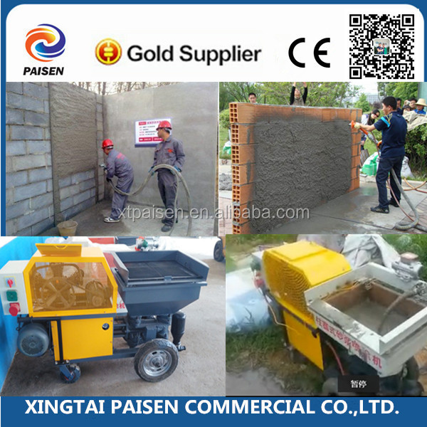 220v/diesel engine automatic construction cement plaster machine/mortar plaster pump