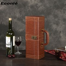 Whosale Luxury leather wine box packaging