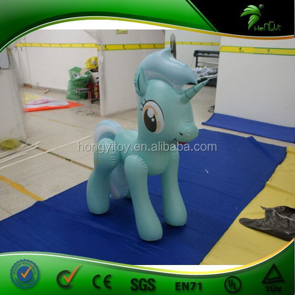 Wholesale Excellent Beautiful White Green Inflatable Little Horse ,Inflatable Horse Toys