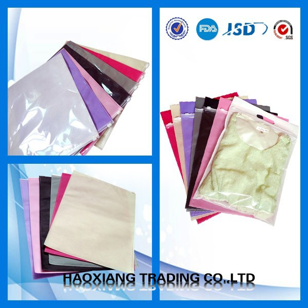 clear plastic zipper bags for clothing packaging