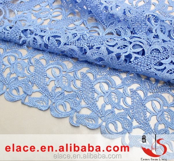 New design high quality beautiful 100% polyester african swiss korean lace fabric for lady garments dress