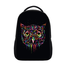 High quality latest design sublimation cute vivid owl backpack for high <strong>school</strong> girls