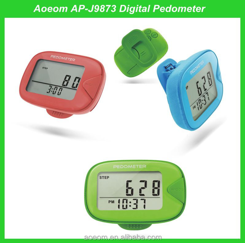 1 years free warranty 2D digital precise elderly use pedometer large LCD