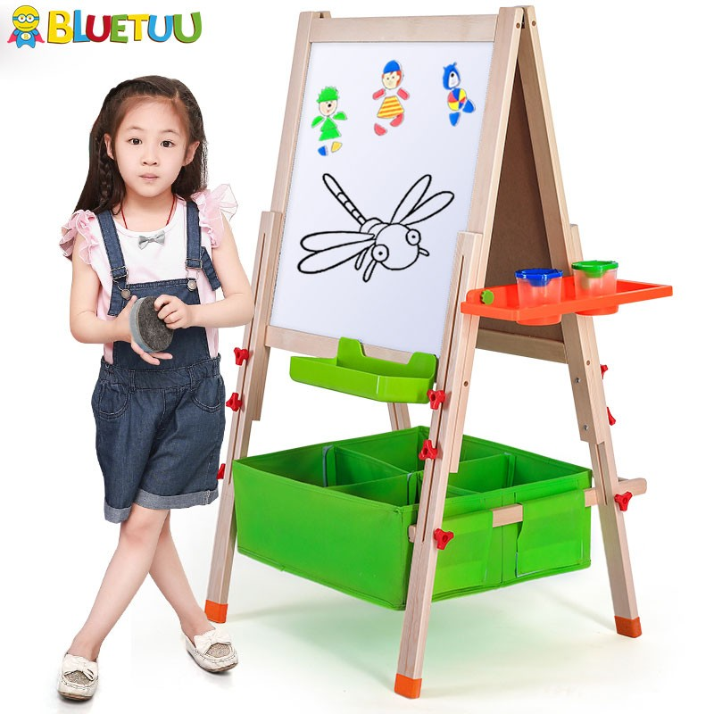 China top quality kids portable magnetic whiteboard sheets with standing framed