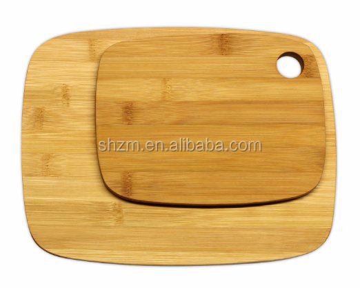 "Bamboo Cutting Board Set - 2-Piece Meidium (11x8.5"") and Small (8x6"")"