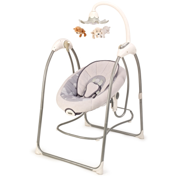 2in1 electric toys baby swing bouncer bed with sound control and smart mobile connect app