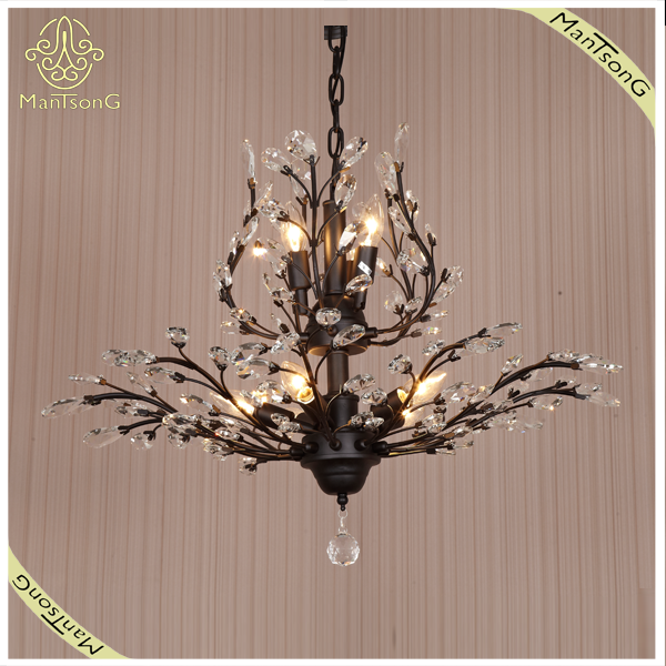 Zhongshan Factory Iron Chandelier Crytsal Besides, Good Design Chandelier