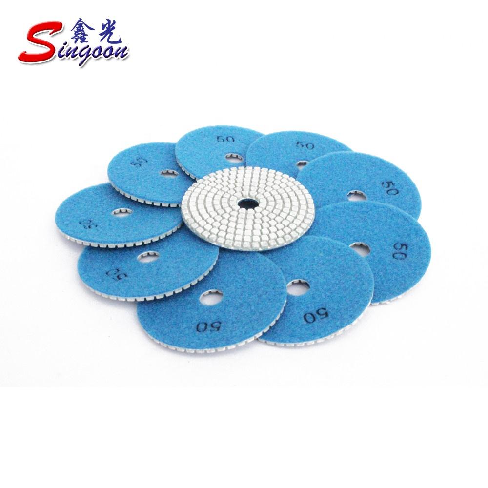 5Pc 4/'/' Diamond Grinding Polishing Pads Discs For Granite Marble Concrete Stone
