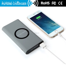 8000 mAh Wireless Charging USB Charger Power Bank for Smart Phone