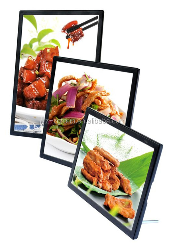 Menu / COCO Milk Tea ABS Injection LED Light Box for restaurant