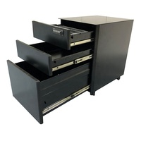 Fully assembled 3 Drawers Mobile Metal Steel Pedestal File Cabinet with Coded Lock for Office