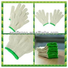 hot selling 7gauge white cotton hand gloves SJIE12088-2 cheap white cotton gloves industrial hand gloves