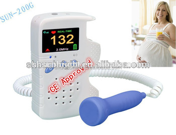 portable and convenient pocket fetal doppler baby sound B