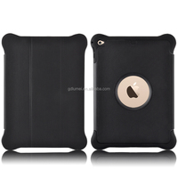 Premium synthetic PU flip cover folio stand shockproof soft TPU silicone cushioning bumper for iPad air 1/2