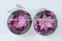 "19.05 CT! TREMENDOUS COLOR CHANGE ALEXANDRITE QUARTZ EARRINGS 925 SILVER 1/2""S 925 SILVER 1 5/8"""