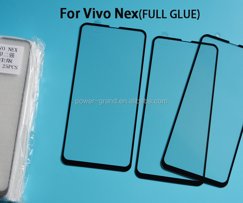 2.5D 9H Silk printing FULL Glue cover Tempered glass screen protector for Vivo Nex