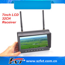 Never blue screen 7inch 5.8GHz 32ch dual receiver diversity LCD monitor for ready to fly quads, FatShark compatible