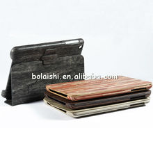 For iPad Mini Flip Cover Case Lighter Wood Grain Tablet Cases