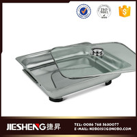 stainless steel custom food packaging container display stand warmer