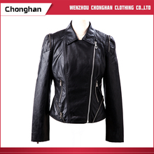 Chonghan China Manufacturer Leather Biker Women Sexy Leather Jackets