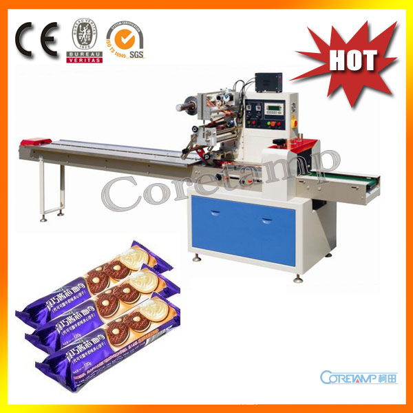 Horizontal Automatic Center Seal Packing Machine For Chocolate Biscuit