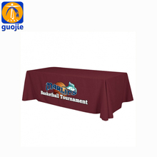 6ft 8ft trade show logo custom printed event stretch table cloth