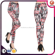 Fashionable multi color sublimation leggings by Linked Fashion Factory in Yiwu Market