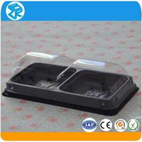 OEM design small clear molded plastic packaging boxes for cake