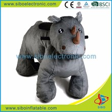 GM5932 Sibo Coin Operated Plush Riding Electric Indoor Ride On Walking Animal For Kids In Mall