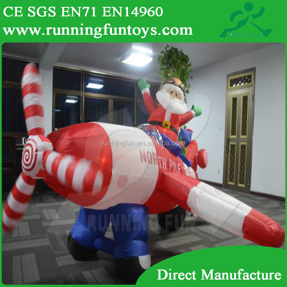 Santa Claus Inflatable Christmas Ornaments, Santa Claus Inflatable In Airplane