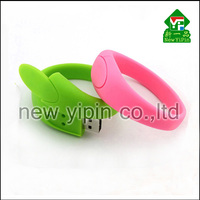 Hot Selling New Design promotional Gifts Custom USB Stick Soft PVC Bracelet