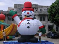 Outdoor cheap inflatable snowman balloon for party decoration C6018
