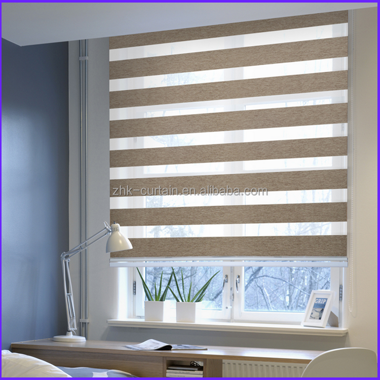 Compact Waterproof Polyester Material Zebra Blinds Supplier