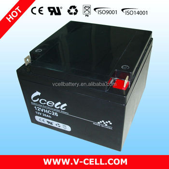 12v 26ah sla Deep Cycle Battery backup (VCELL,12VHC26)