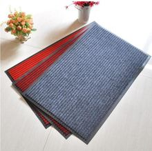 Customized anti-slip 100% polyester double stripe colors entrance door mat