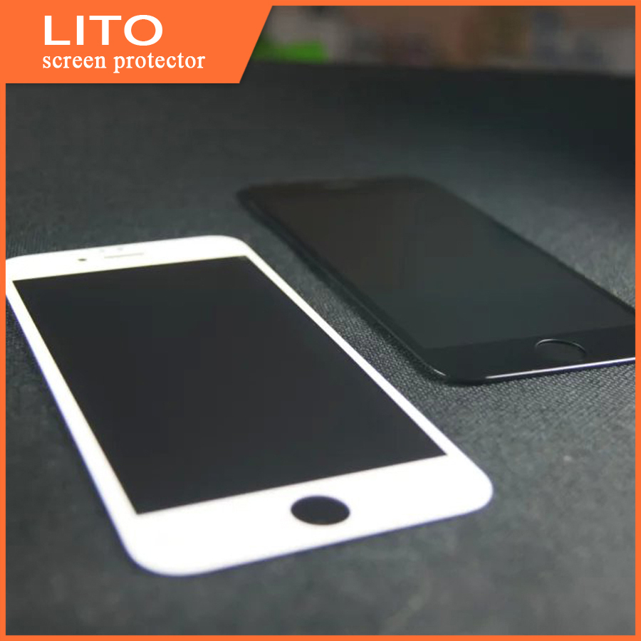 Wholesale 2015 hot products 3d curved full cover tempered glass screen protector for iphone 6