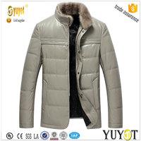 genuine leather fit soft impact men padded jacket
