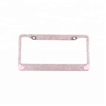 Hot Pink Heart Rhinestone Bling License Plate Frames - Buy Bling ...