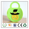 Eco-friendly 5.5*7 inch Green Pumpkin DIY felt bag for candy