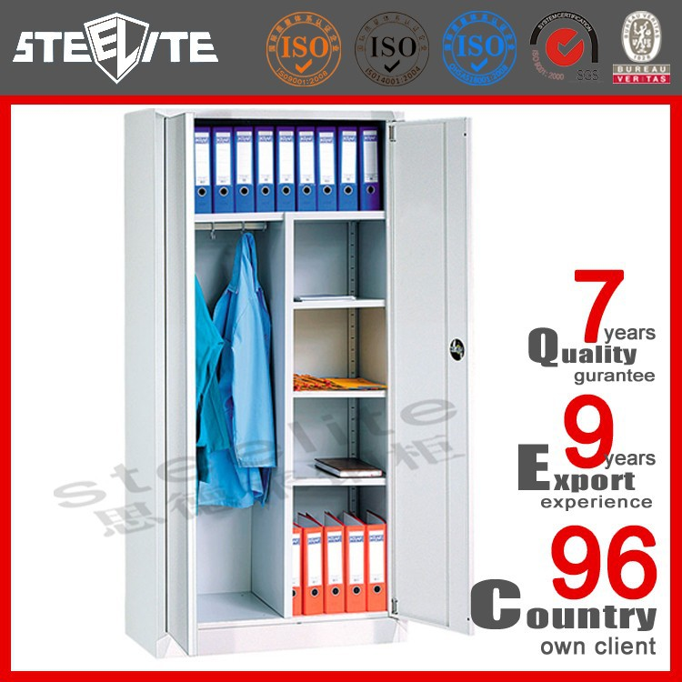 Top quality KD metal clothes cabinet small/ clothes cabinet hanging